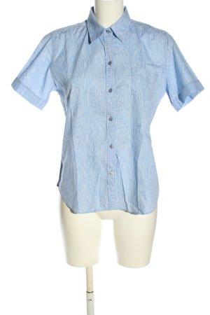 van Laack Hemd-Bluse blau-weiß Karomuster Casual-Look
