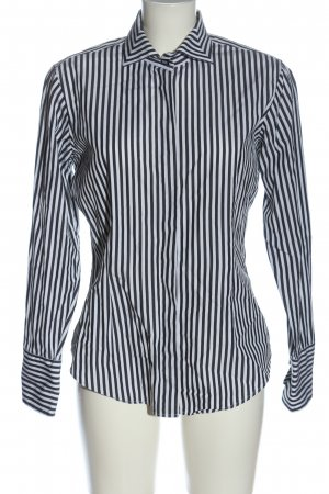 van Laack Shirt Blouse black-white striped pattern casual look