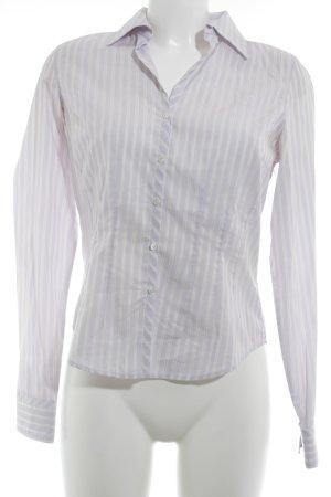 van Laack Hemd-Bluse blasslila-creme Streifenmuster Elegant