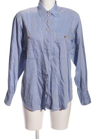van Laack Hemd-Bluse blau Allover-Druck Casual-Look