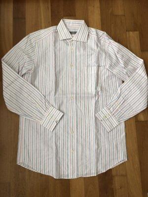 Van Laack Herrenhemd, weiß/rosa/blau gestreift, Gr. 15