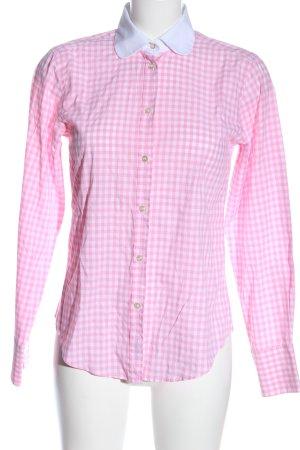 van Laack Holzfällerhemd pink-weiß Karomuster Casual-Look