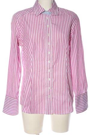 van Laack Holzfällerhemd pink-weiß Streifenmuster Business-Look