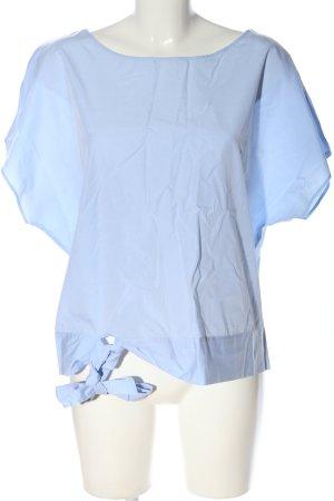 van Laack Kurzarm-Bluse blau Casual-Look