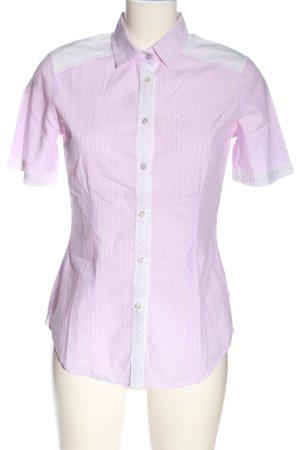 van Laack Kurzarmhemd pink-weiß Allover-Druck Casual-Look