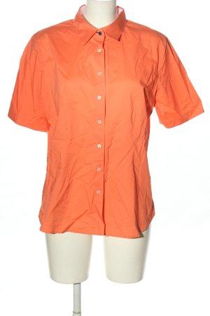 van Laack Camisa de manga corta naranja claro look casual