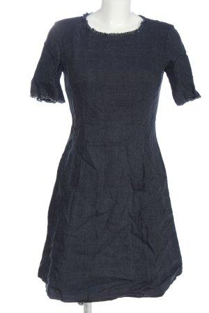 van Laack Shortsleeve Dress blue flecked casual look