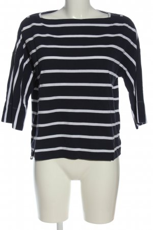 van Laack Short Sleeve Sweater blue-white striped pattern casual look