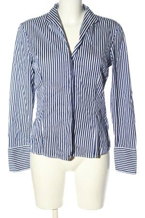 van Laack Langarm-Bluse blau-weiß Streifenmuster Casual-Look