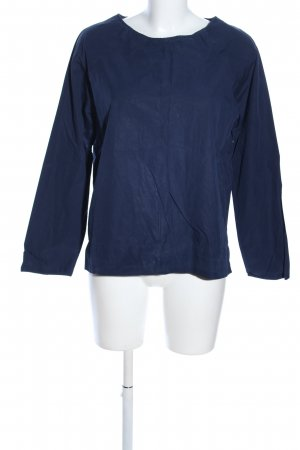 van Laack Langarm-Bluse blau Business-Look