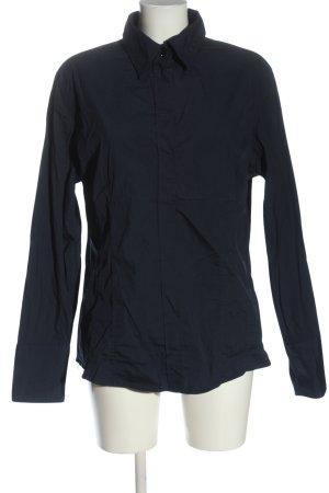van Laack Long Sleeve Blouse blue casual look