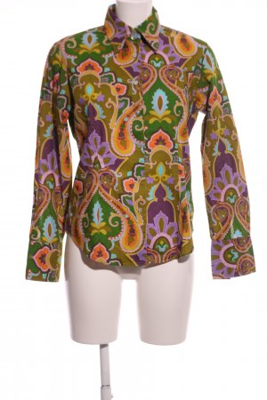 van Laack Langarm-Bluse grafisches Muster extravaganter Stil