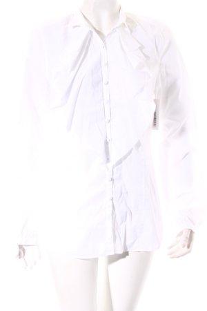 van Laack Langarm-Bluse weiß Casual-Look