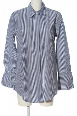 van Laack Long Sleeve Shirt black-white striped pattern casual look
