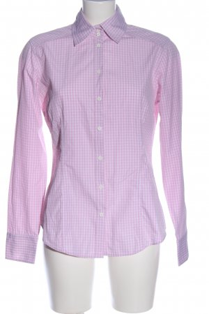 van Laack Langarmhemd pink-weiß Karomuster Business-Look