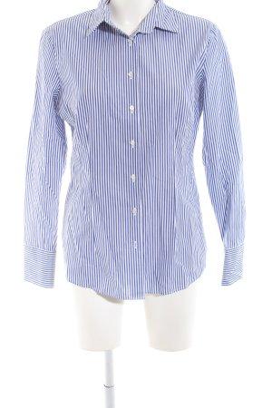 van Laack Langarmhemd blau-weiß Streifenmuster Business-Look