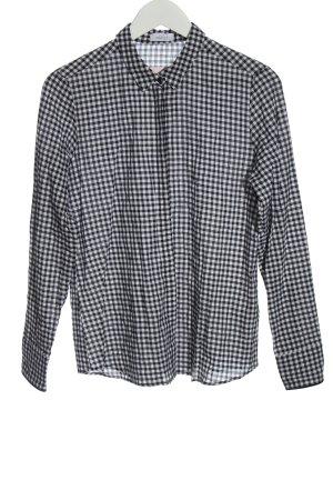 van Laack Long Sleeve Shirt black-white check pattern casual look