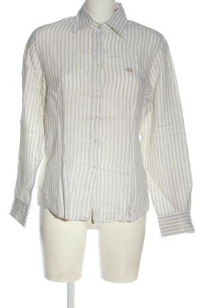 van Laack Long Sleeve Shirt light grey-white allover print business style