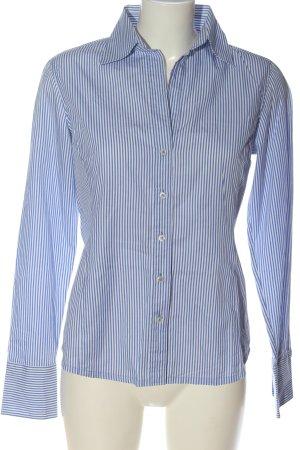 van Laack Long Sleeve Shirt white-blue striped pattern business style