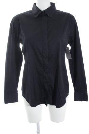 van Laack Langarmhemd schwarz schlichter Stil