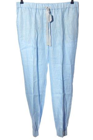 van Laack Linnen broek blauw casual uitstraling