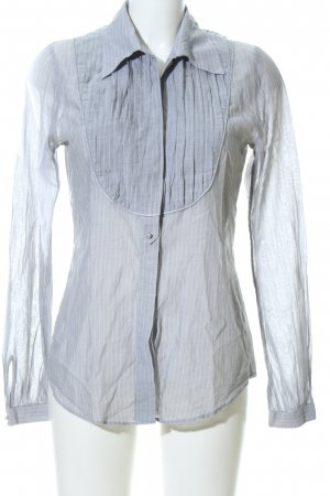 van Laack Long Blouse white-light grey allover print business style