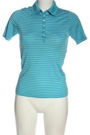 van Laack Koszulka polo niebieski-biały Wzór w paski W stylu casual
