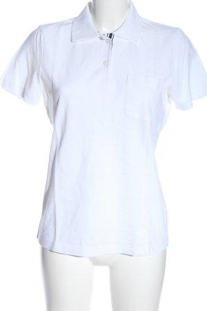 van Laack Polo-Shirt weiß Casual-Look