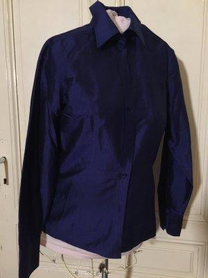 van Laack Silk Blouse dark blue