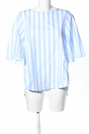 van Laack Slip-over Blouse blue-white striped pattern casual look