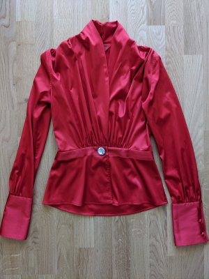 van laack silk blouse with Swarovski crystal button