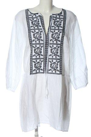 van Laack Sommerkleid weiß-schwarz Casual-Look