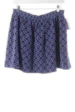 Vanessa Bruno Minirock blau-babyblau abstraktes Muster Casual-Look