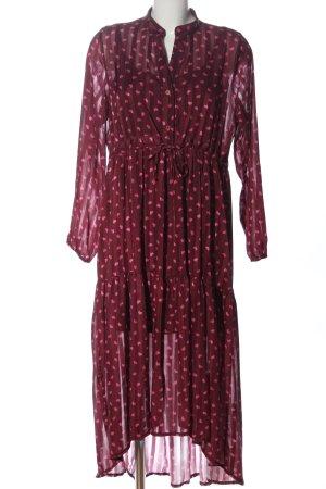 VANESSA SCOTT Sukienka z halką brązowy-różowy Na całej powierzchni