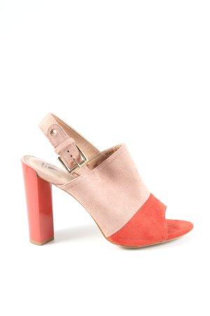 Vanessa Wu High Heel Sandaletten pink-rot Casual-Look