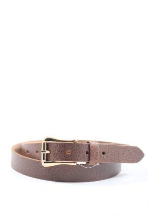 Vanezia Cinturón de cuero marrón look casual