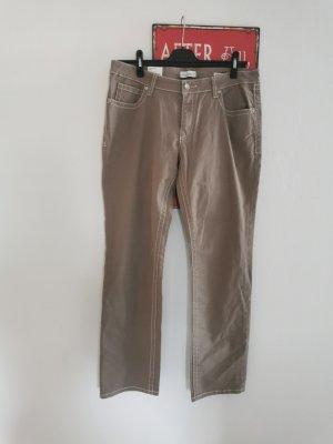 Vanilia Jeansy z prostymi nogawkami jasnobrązowy-zielono-szary Bawełna