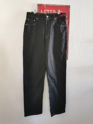 Vanilia Damen Mom Jeans dunkelblau regular Größe IT42 DE38