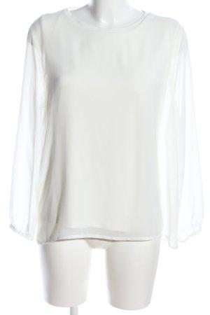 Vanilia Langarm-Bluse weiß Elegant