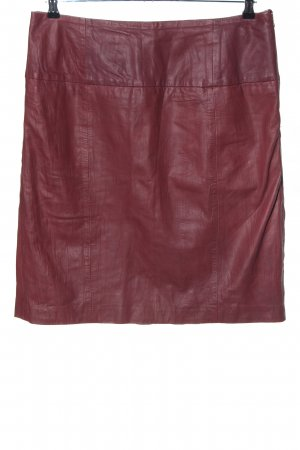Vanilia Leather Skirt red business style