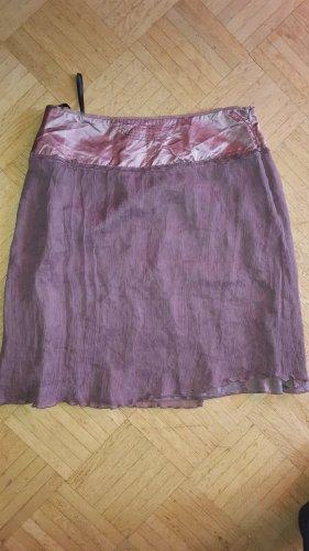 Vanilia Plissee Rock violett lila 100% Seide Gr36