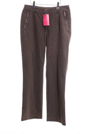 Vanilia Jeansy z prostymi nogawkami brązowy W stylu casual