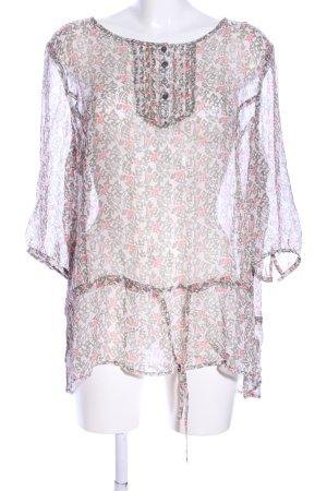 Vanilia Transparenz-Bluse abstraktes Muster Casual-Look