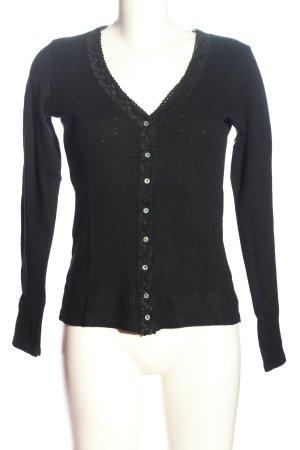 Vanilla Langarm-Bluse schwarz Casual-Look
