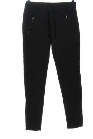 Vanilla Pantalón tipo suéter negro look casual