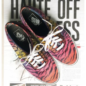 Vans Authentic Sneakers Animal Print 40 UK 6,5 bunt Pink Turnschuhe Special Edition