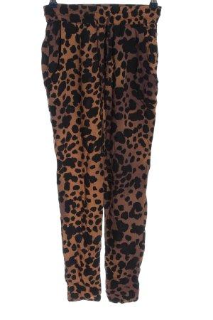Vans Pantalón abombado marrón-negro look casual