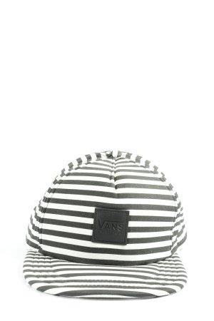 Vans Kaszkiet czarny-biały Wzór w paski W stylu casual