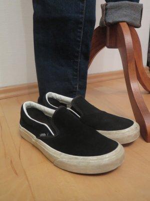 Vans, Classic Slip On, schwarz, Leder