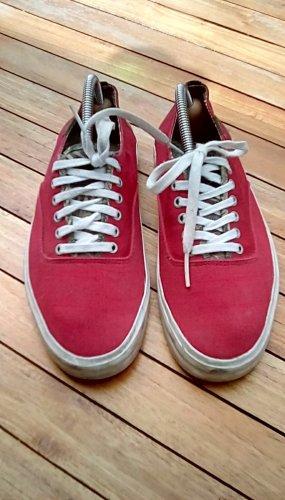 Vans Lace-Up Sneaker brick red